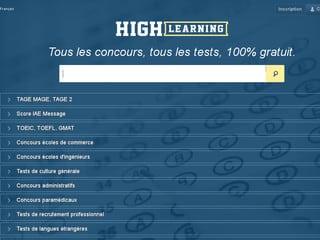 tests concours avenir