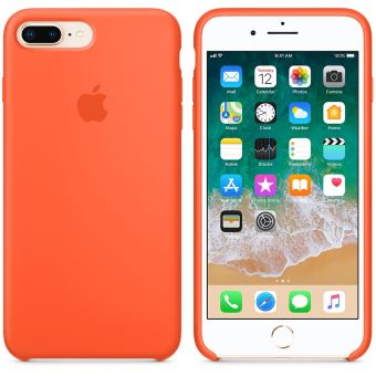 coque orange iPhone 7 Plus