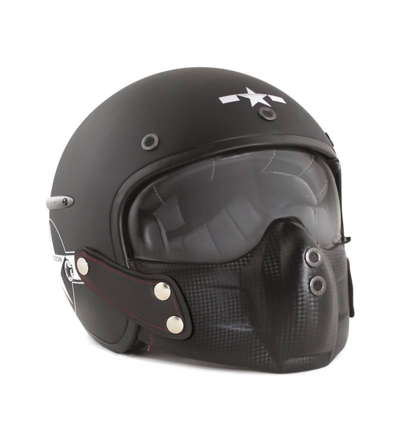 Casque moto style pilote de chasse